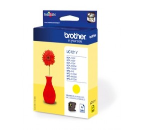 Cartouche Brother LC-121Y jaune